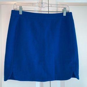 J. Crew Shirttail Mini Skirt